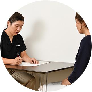 治療後の説明と養生指導