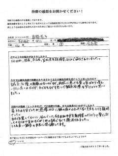 不正出血、腰痛、更年期障害、冷え性 46歳 女性 名古屋市中川区在住