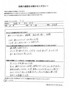 めまい、頭重感、身体が重い、不安感 25歳 女性 名古屋市中川区在住
